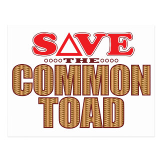 Common Toad Save Postcard