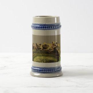 Common Tree Frog Polypedates Leucomystax Beer Stein