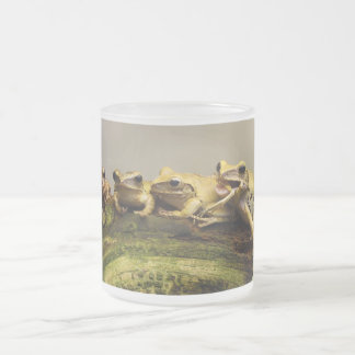 Common Tree Frog Polypedates Leucomystax Frosted Glass Coffee Mug