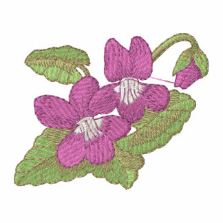 Common Violets Embroidered Track Jacket