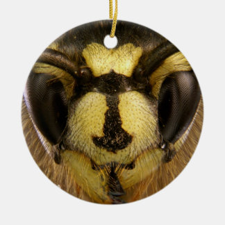Common Wasp Vespula Vulgaris Ceramic Ornament
