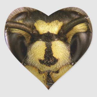 Common Wasp Vespula Vulgaris Heart Sticker