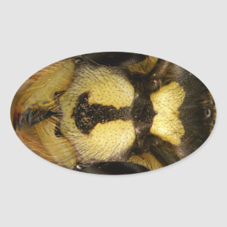 Common Wasp Vespula Vulgaris Oval Sticker