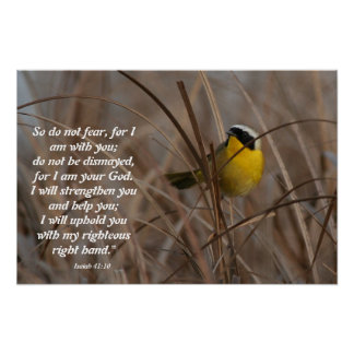 Common Yellowthroat Bird Isaiah 41:10 Print