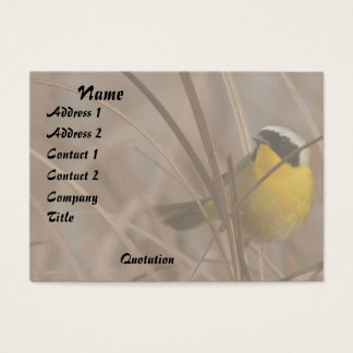 Common Yellowthroat Bird Wildlife Animal Wetlands Business Card