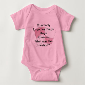 Commonly forgotten things baby bodysuit