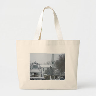Commons, Little Compton, Rhode Island Large Tote Bag