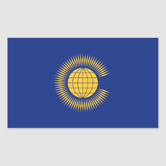 Commonwealth Flag. British, United Kingdom Rectangular Sticker