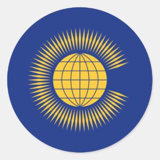 Commonwealth Flag. British, United Kingdom Classic Round Sticker