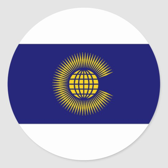Commonwealth Flag Classic Round Sticker