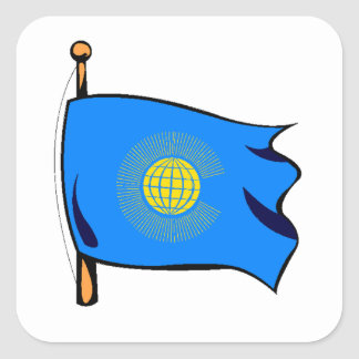 Commonwealth Flag Square Sticker