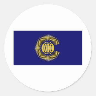 Commonwealth Flag Classic Round Sticker