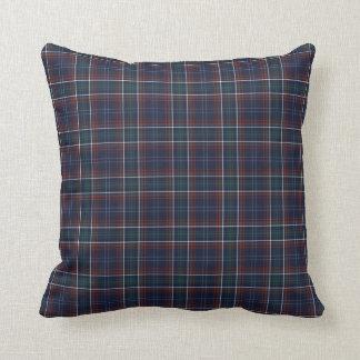 Commonwealth of Massachusetts Tartan Throw Pillow