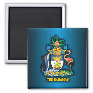 Commonwealth of the Bahamas COA 2 Inch Square Magnet