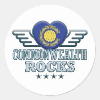 Commonwealth Rocks v2 Classic Round Sticker