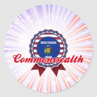 Commonwealth, WI Classic Round Sticker