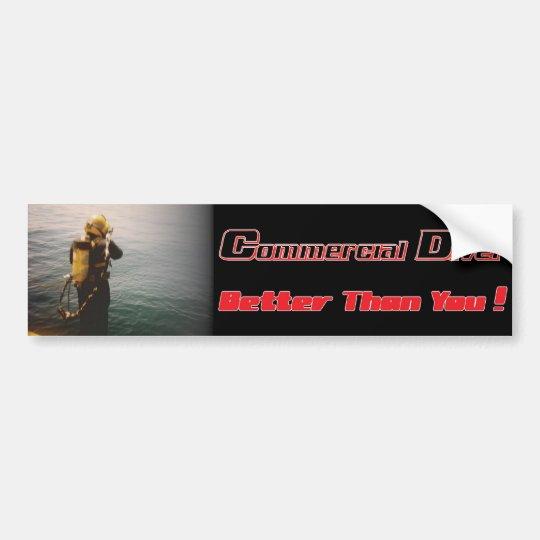 Commrecial Diver splashin' down Bumper Sticker