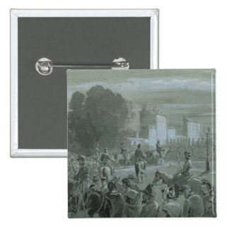 Communard Prisoners Escorted to Versailles, 1871 2 Inch Square Button