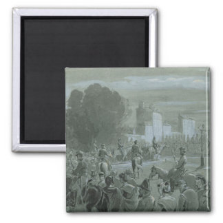 Communard Prisoners Escorted to Versailles, 1871 2 Inch Square Magnet