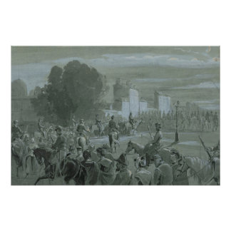 Communard Prisoners Escorted to Versailles, 1871 Poster