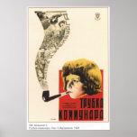Communards Pipe 1929 Soviet Movie Poster