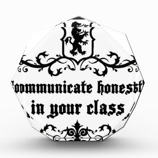 Communicate Honestly In Your Class Award