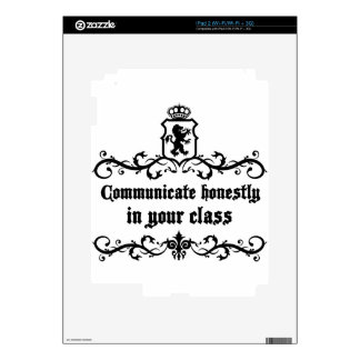 Communicate Honestly In Your Class Skin For The iPad 2