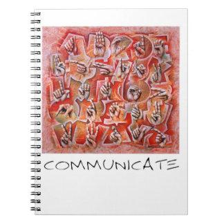 Communicate sign language notebook