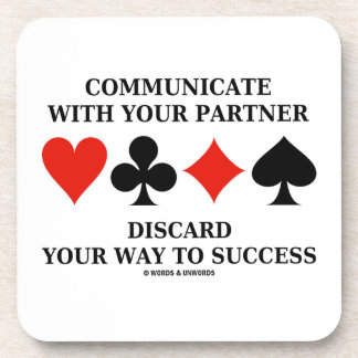 Communicate With Your Partner Discard Your Way To Coasters