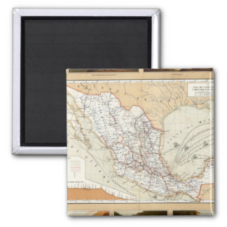 Communication and Transportation of Mexico 2 Inch Square Magnet