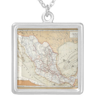 Communication and Transportation of Mexico Square Pendant Necklace