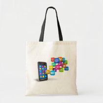 bag, tote, like, facebook, thumb, communication, people, friends, birthdays, black, Bag with custom graphic design