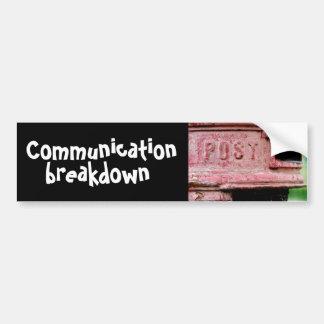 communication breakdown car bumper sticker
