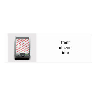 Communication Device Photo Frame Double-Sided Mini Business Cards (Pack Of 20)