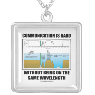 Communication Hard Without Being Same Wavelength Square Pendant Necklace