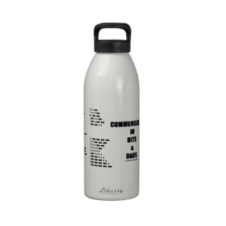 Communication In Dits And Dahs (Morse Code) Water Bottles