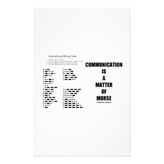 Communication Is A Matter Of Morse Stationery