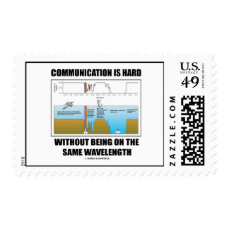 Communication Is Hard Without Same Wavelength Postage Stamp