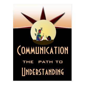 Communication path to understanding postcard