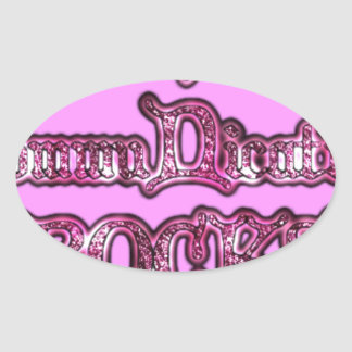 Communication Rocks Pink Hakuna Matata .png Oval Sticker