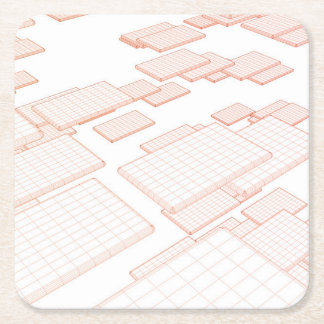 Communication Software and Technology Tools Square Paper Coaster