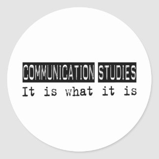 Communication Studies It Is Classic Round Sticker