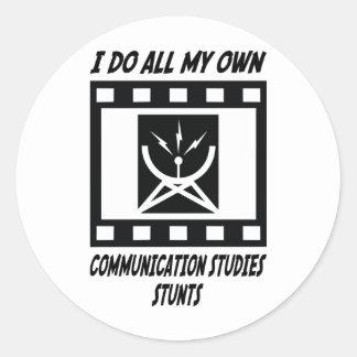 Communication Studies Stunts Classic Round Sticker
