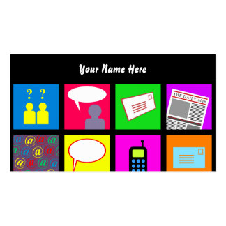 Communication Tile Wallpaper, Your Name Here Business Card