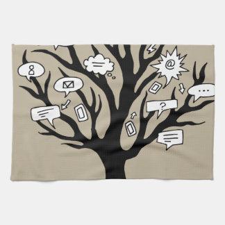 Communication Tree Drawing Kitchen Towel