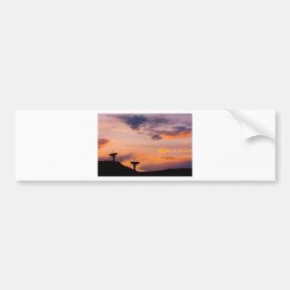 Communications Colorful Sunset Sky Bumper Sticker