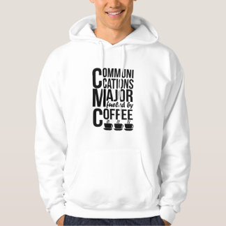 Communications Major Fueled By Coffee Hoodie
