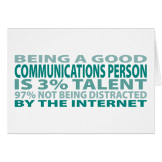 Communications Person 3% Talent Card