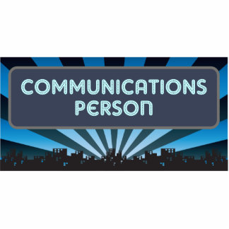 Communications Person Marquee Photo Sculpture