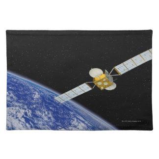 Communications Satellite Cloth Placemat